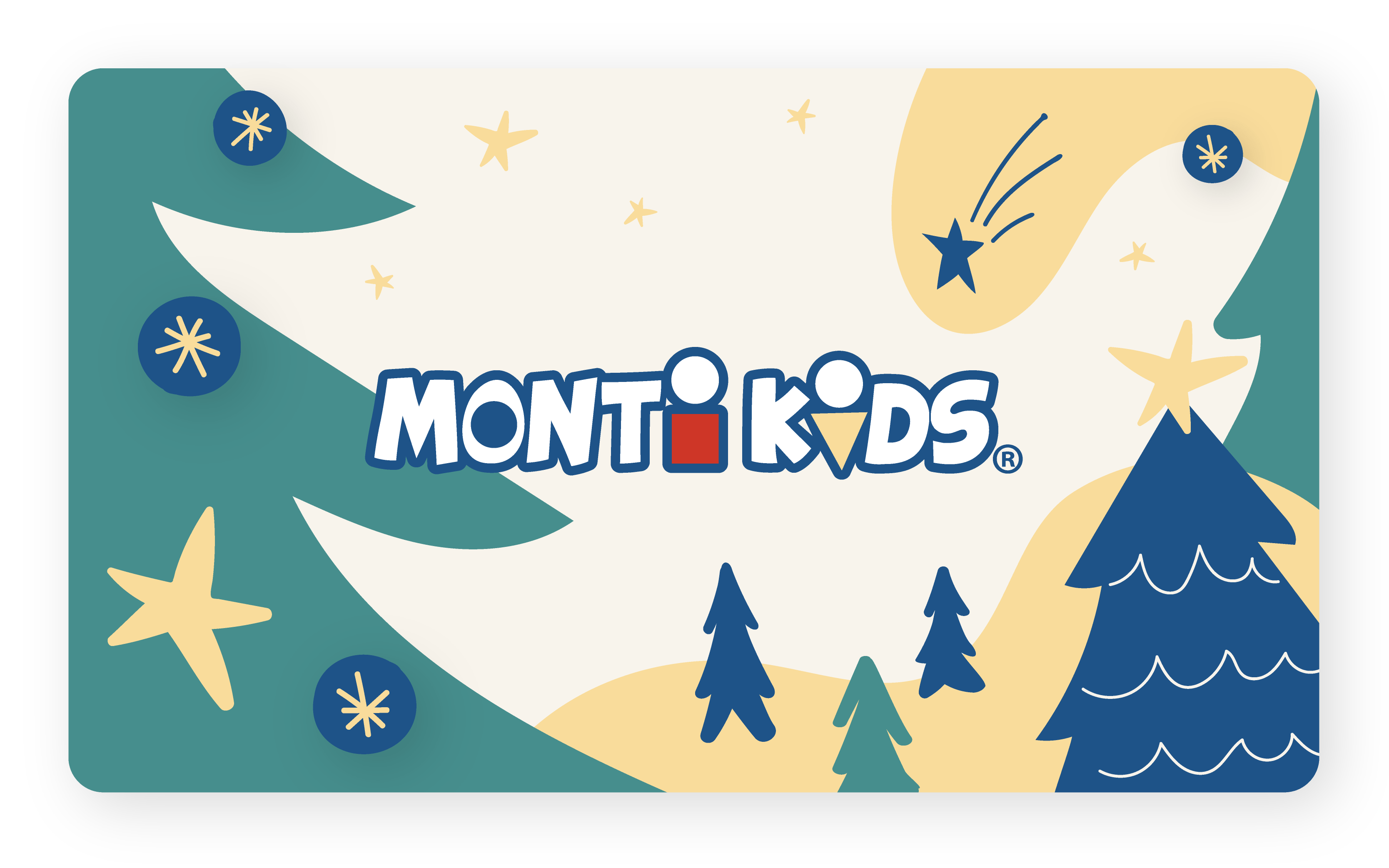 Monti Kids Gift Card Holiday - Christmas Trees