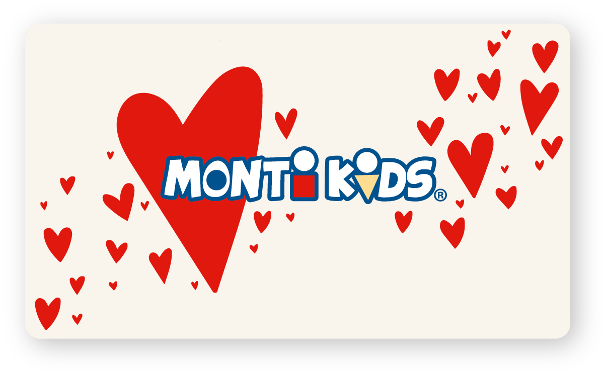 Monti Kids Gift Card Holiday - Valentines Hearts Across