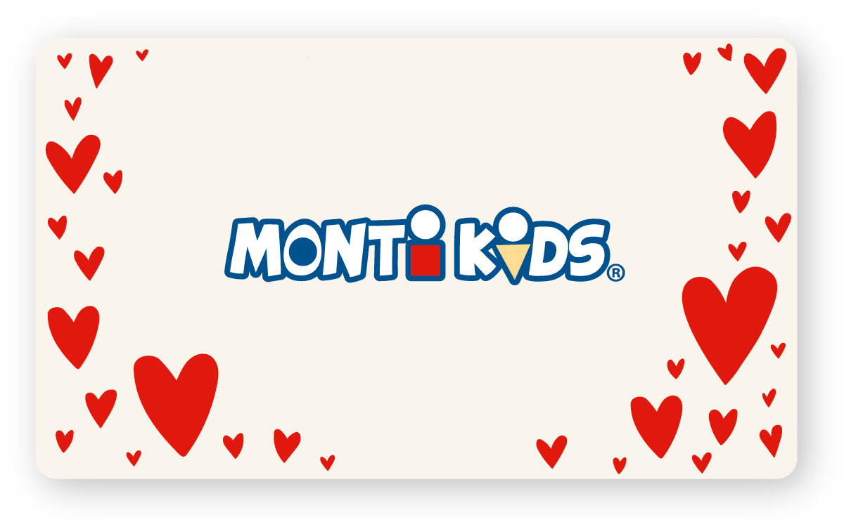 Monti Kids Gift Card Holiday - Valentines Hearts On Sides