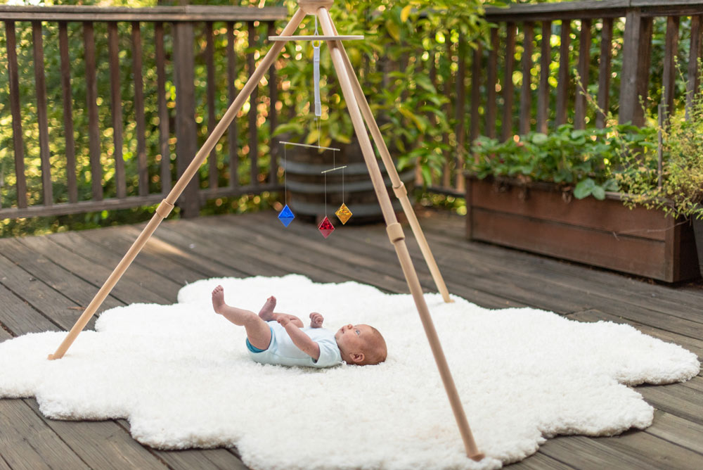 Octahedron mobile for infant