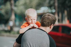Toddler having tantrum