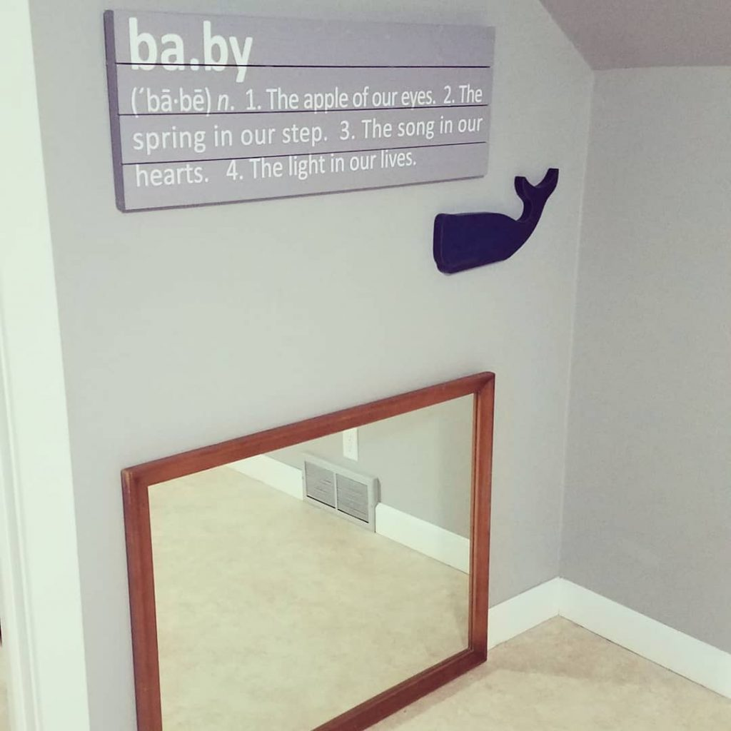 Nursery Floor Mirror
