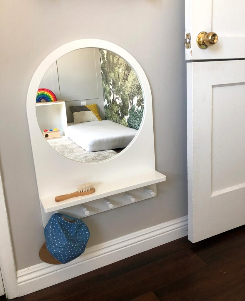 Mirror in Montessori Bedroom