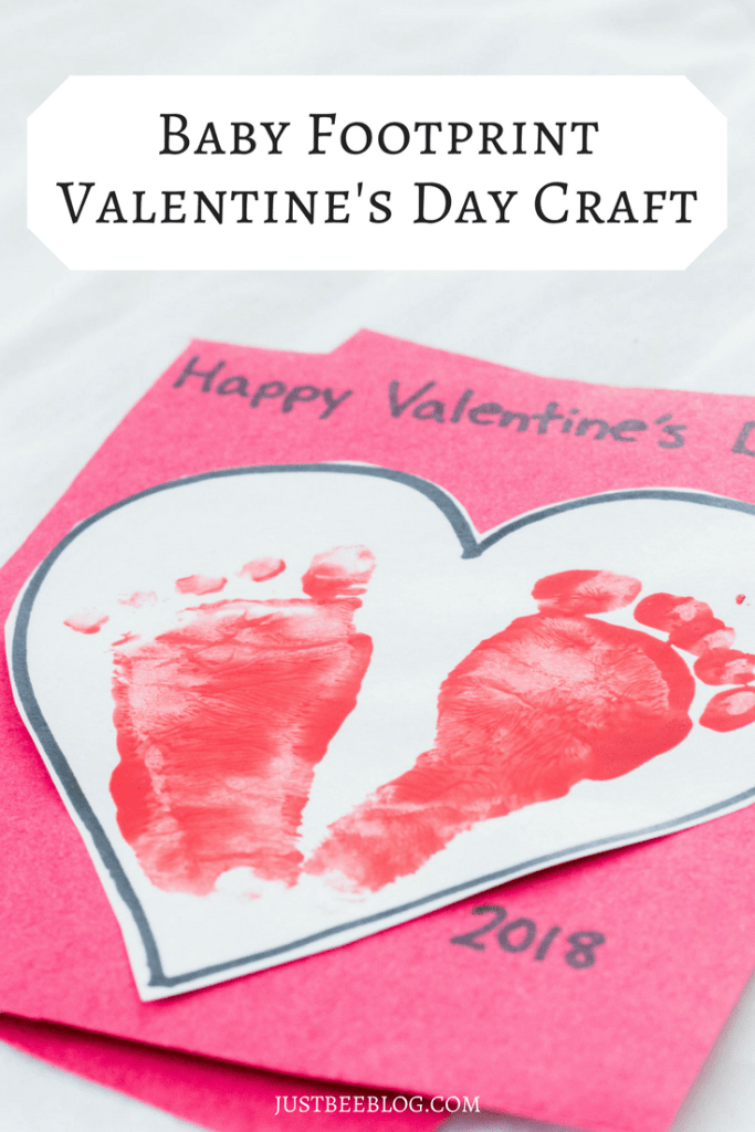 Baby Footprint Valentine's Craft