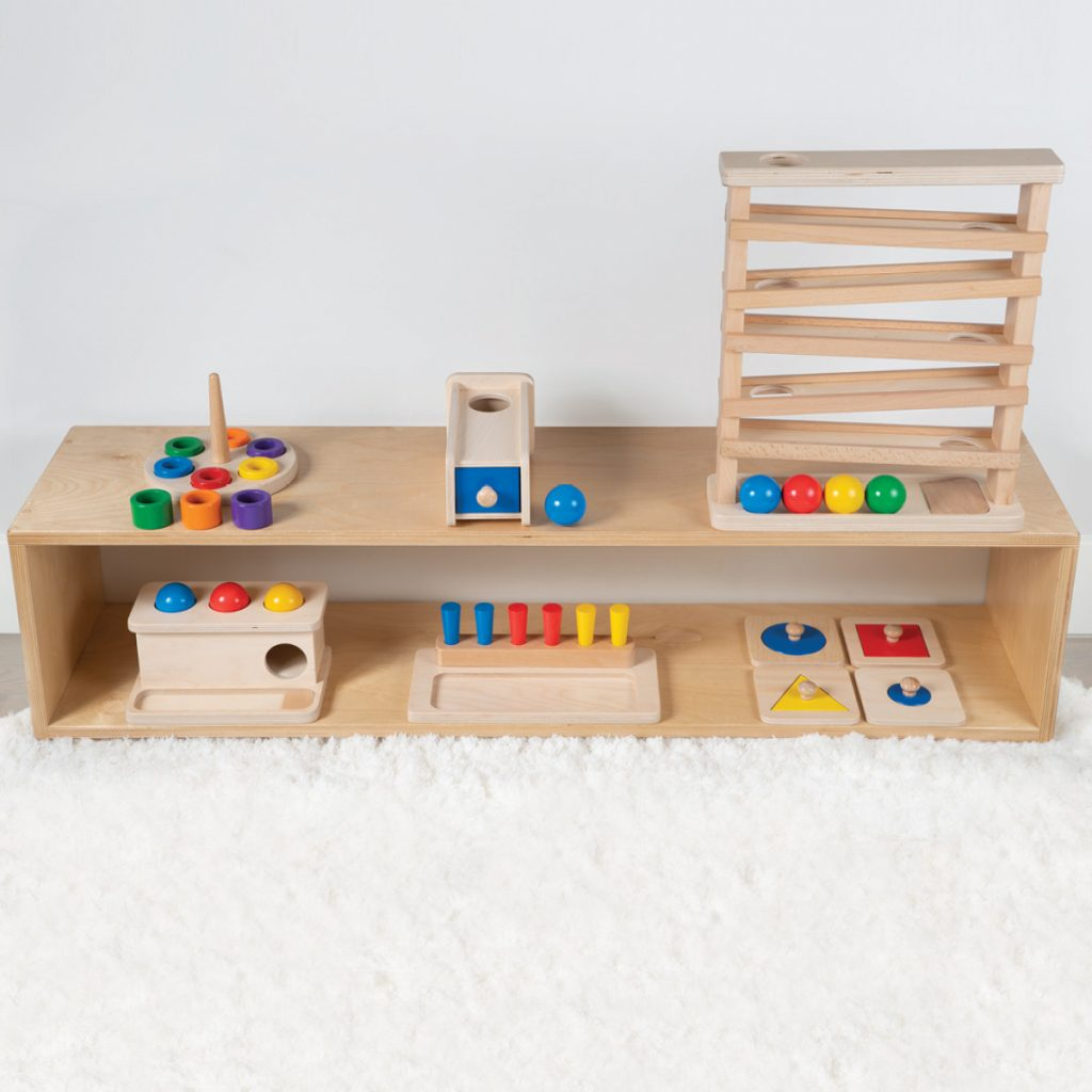 Montessori Toys On Shelf