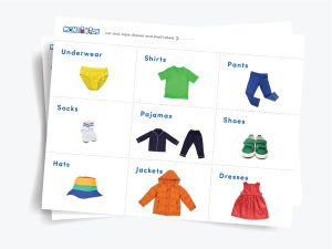 Printable Labels for Children's Drawers