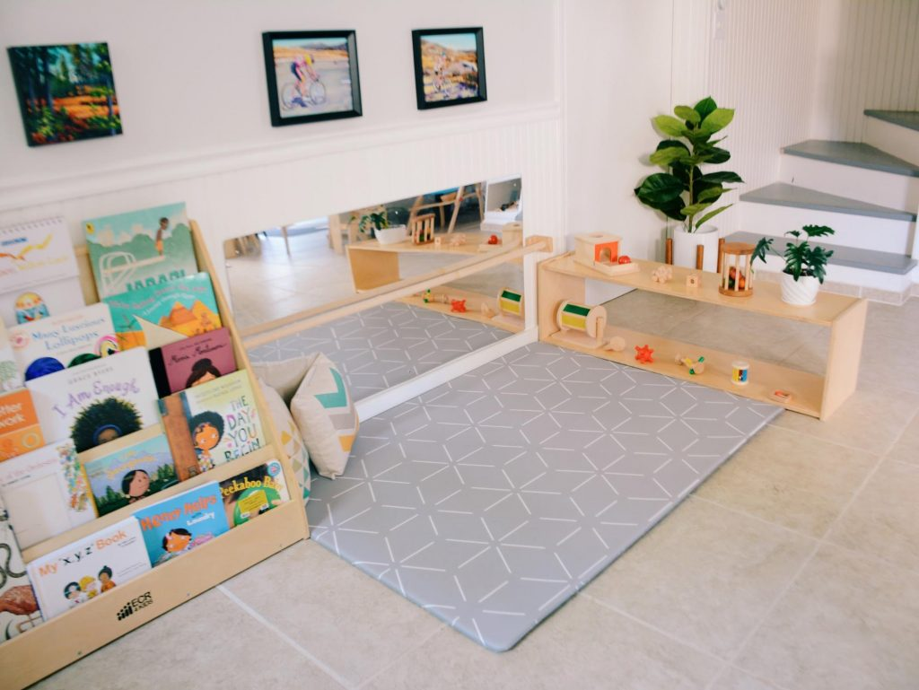 Baby Playspace in Montessori Homeschool