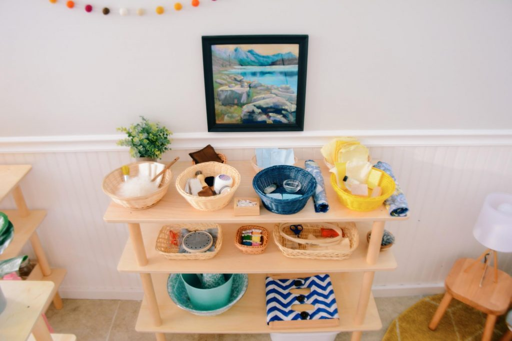 Montessori Homeschool Set Up