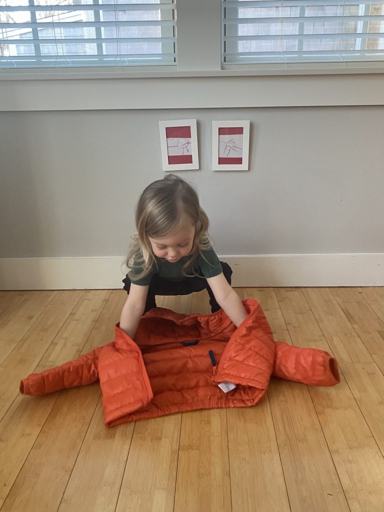 Toddler Coat Putting On