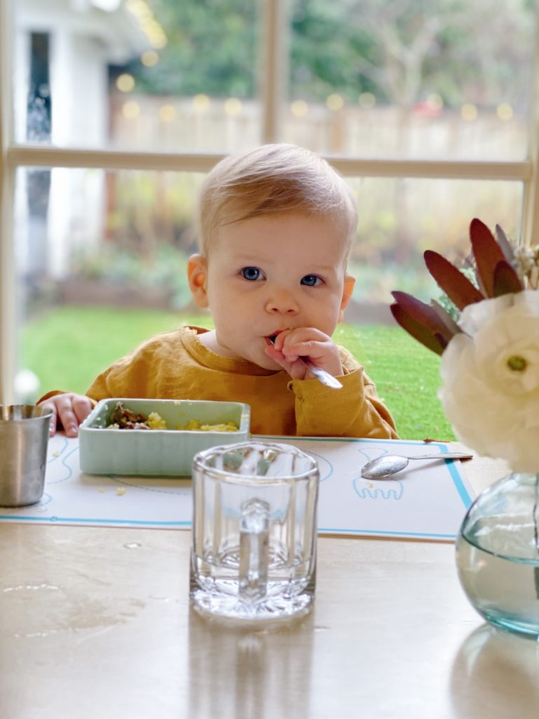 Baby eating independently