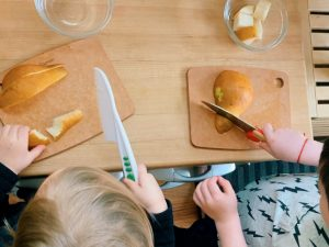 Toddlers Using Knives
